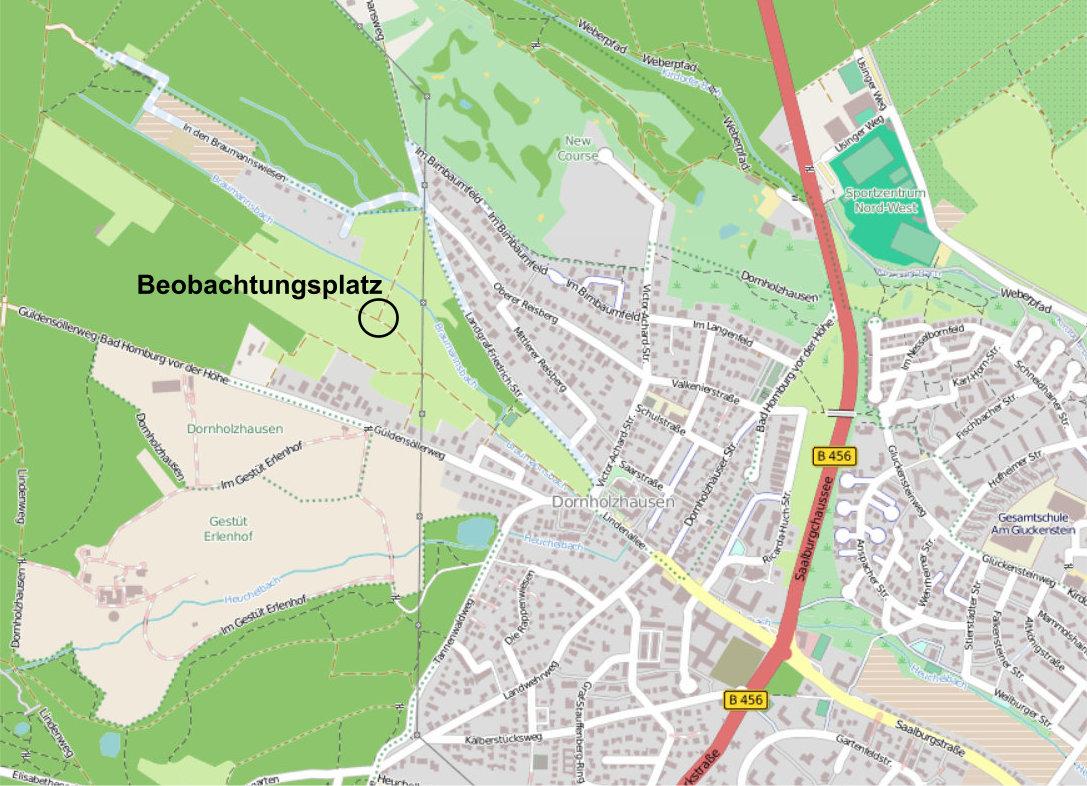 Beobachtungsplatz in den Braumannswiesen.