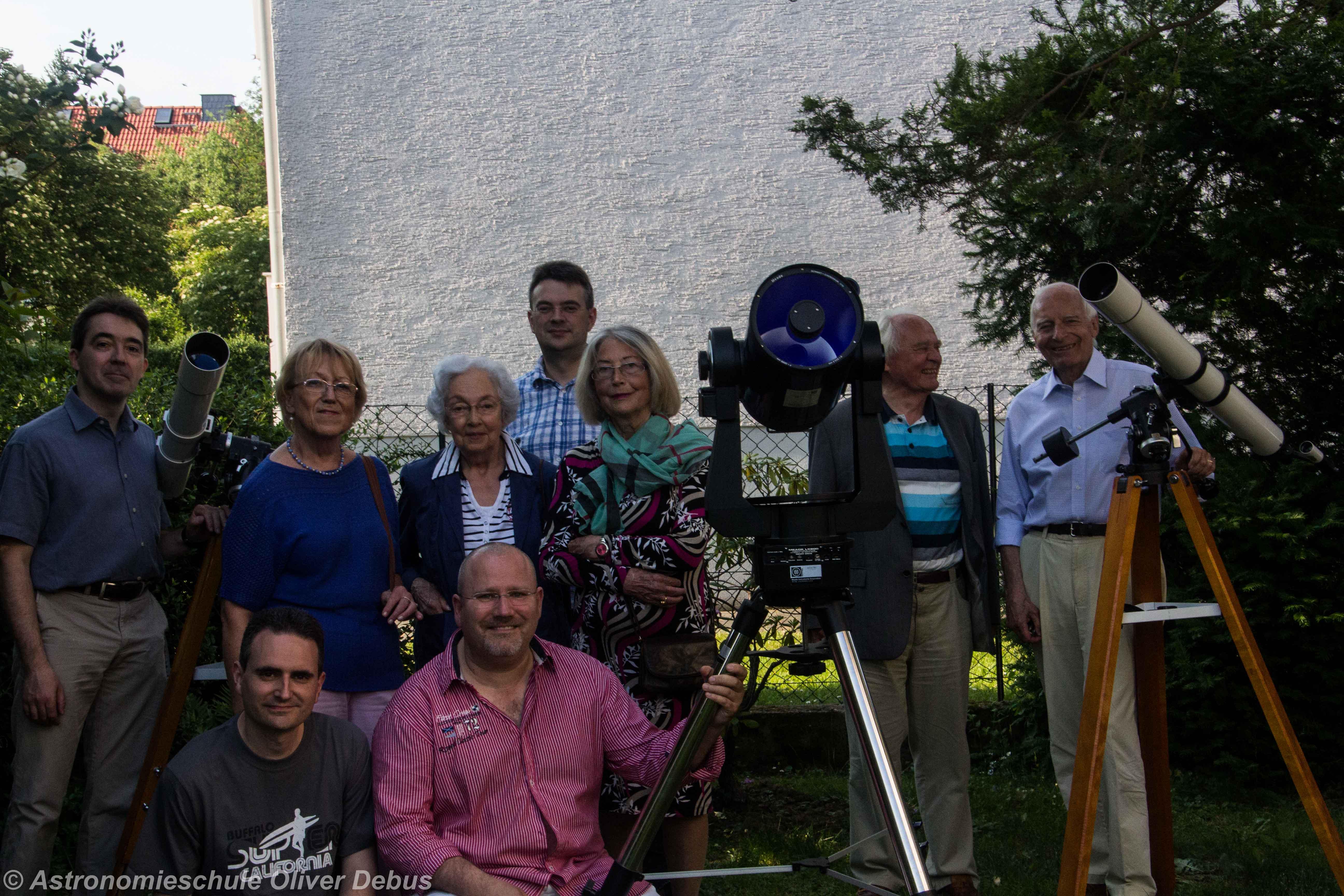 Einige Mitglieder der AG Orion im Juni 2015.