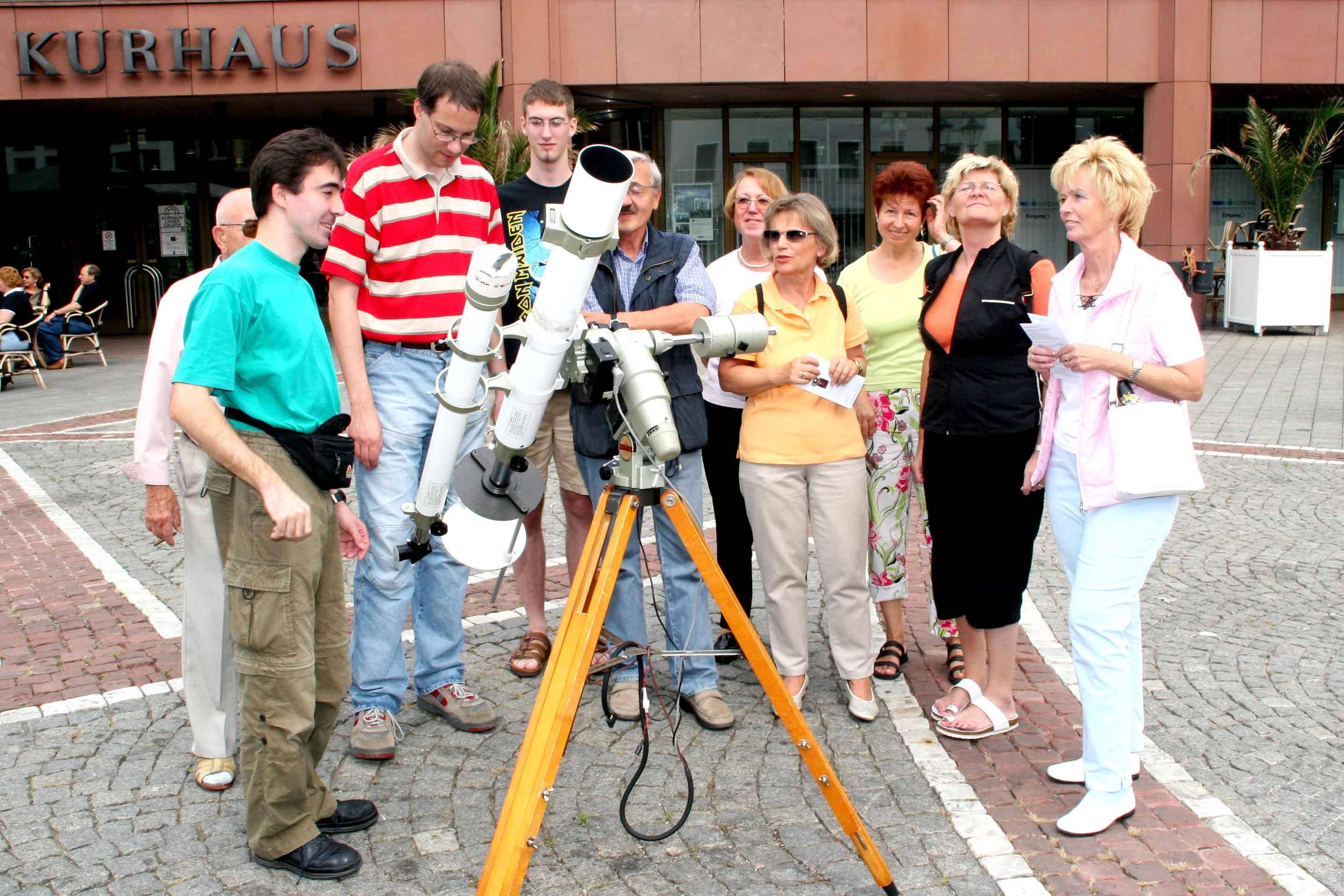Infostand am Astronomietag 2005